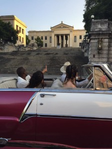 In Classic Car and Univ of Havana
